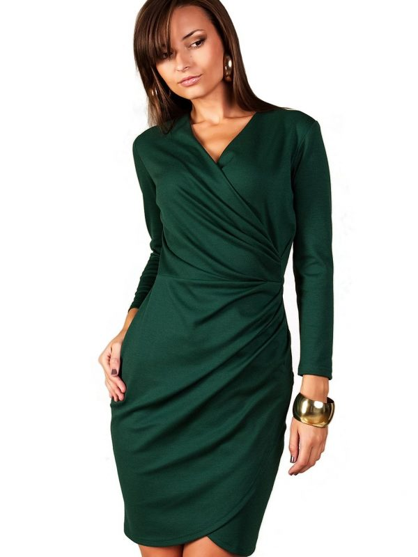 Sukienka Rebeka w kolorze ciemna zieleń