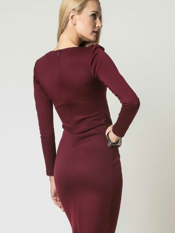 Sara dress, burgundy