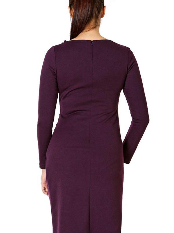 Sara dress, plum color
