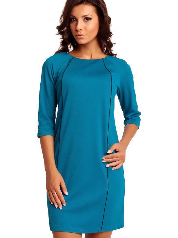 Sukienka SENDY TRIMMED w kolorze błękitnym