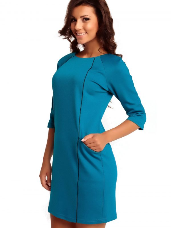 Dress SENDY TRIMMED in blue