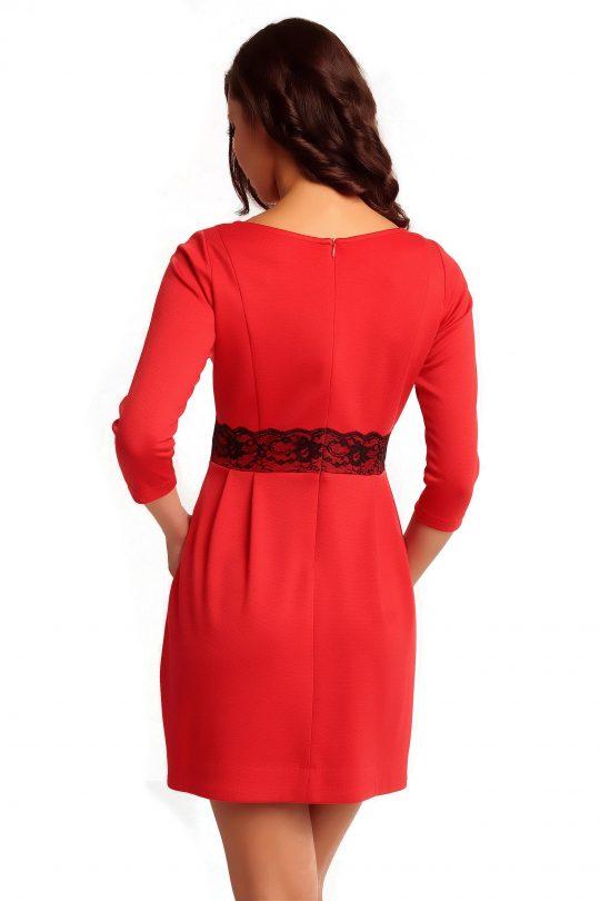 SOLANGE KNITWEAR dress in red