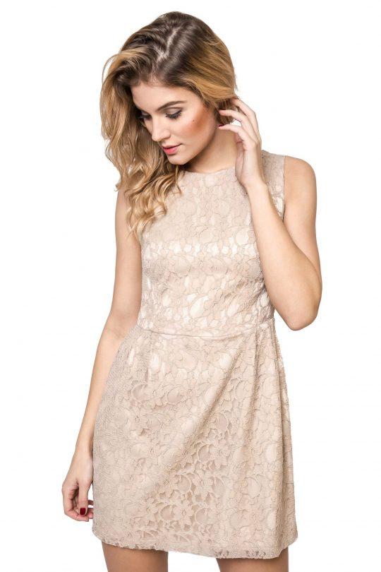 Sukienka Sonia w kolorze beżowym