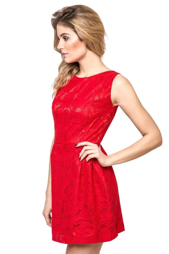 Sonia dress in red
