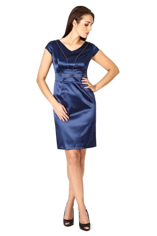 Tamara dress in navy blue