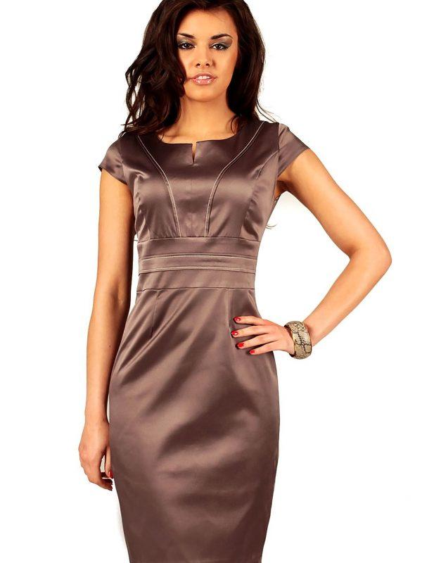 Sukienka Tamara w kolorze brązowym