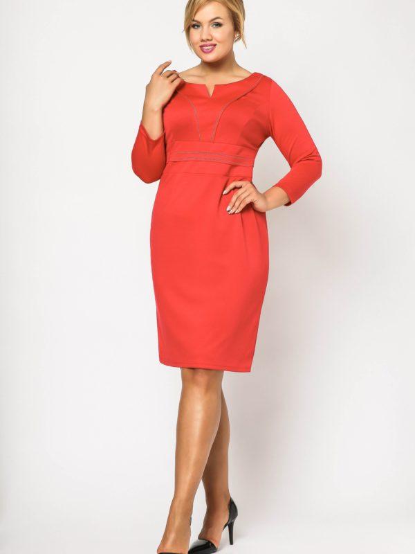 Tamara Knitwear dress in red