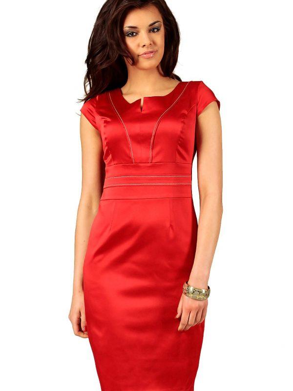 Sukienka Tamara w kolorze czerwonym