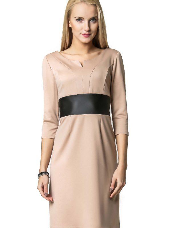 Sukienka Tanya w kolorze beżowym