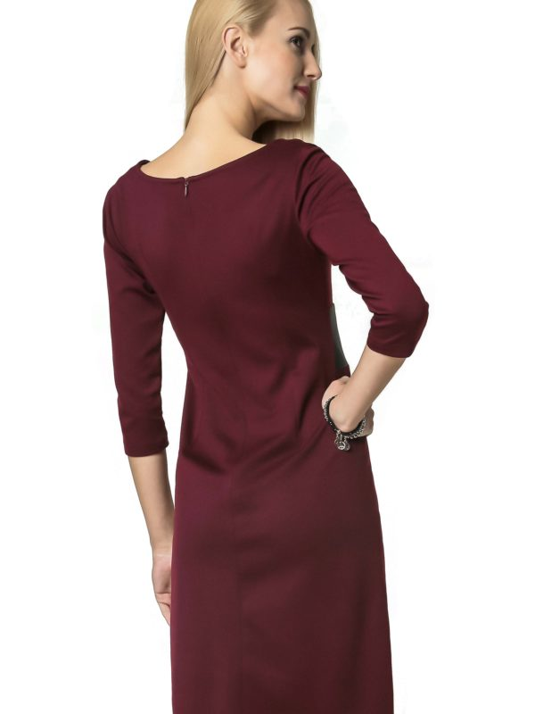 Tanya dress in burgundy