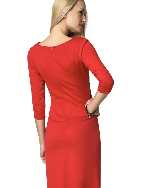 Tanya dress in red