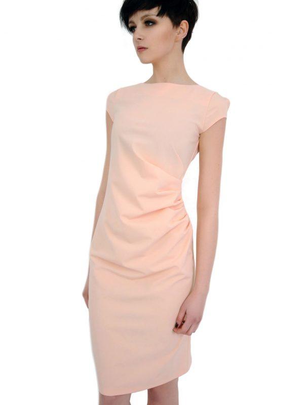 Sukienka Tina w kolorze pudrowym
