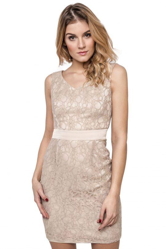 Sukienka Vanda w kolorze beżowym