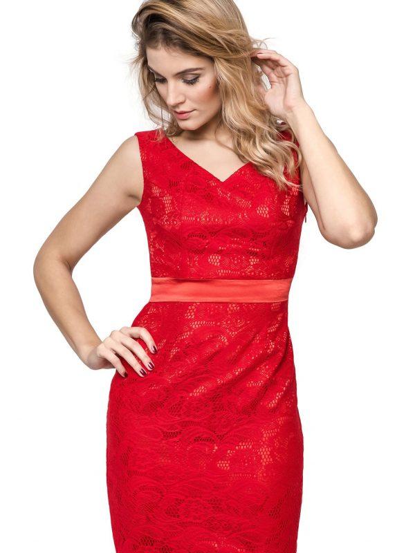 Sukienka Vanda w kolorze czerwonym