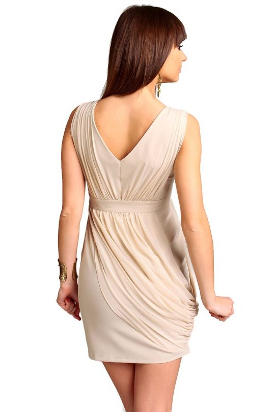 Vivienne Dress in beige color