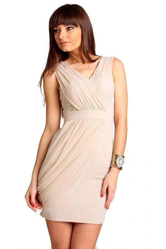 Sukienka Vivienne w kolorze beżowym