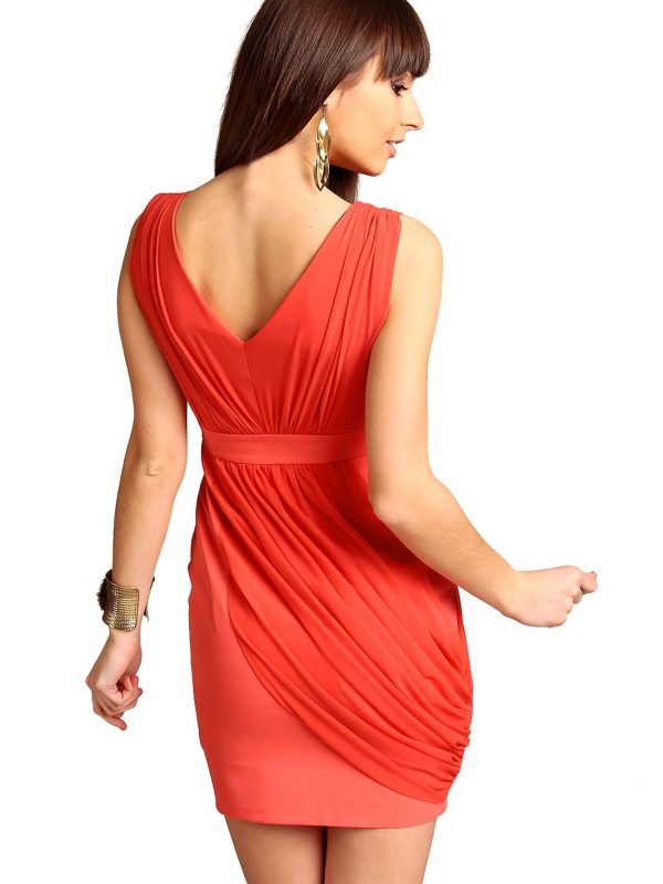 Vivienne Dress in Coral color