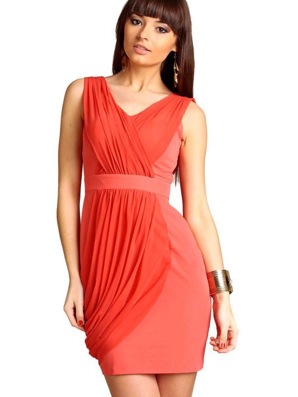 Sukienka Vivienne w kolorze koralowym